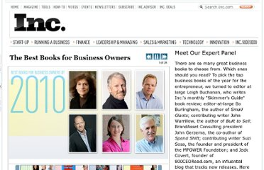 http://www.inc.com/ss/best-books-for-business-owners-2010#0