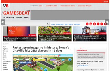 http://venturebeat.com/2010/12/15/fastest-growing-game-in-history-zyngas-cityville-hits-26m-daily-players-in-12-days/