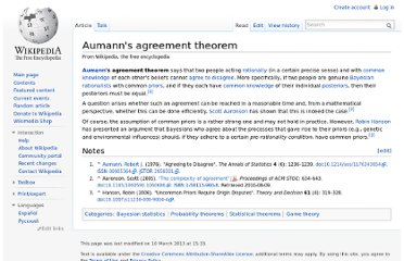 http://en.wikipedia.org/wiki/Aumann%27s_agreement_theorem