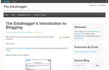 http://theedublogger.com/2010/12/14/the-edubloggers-introduction-to-blogging/