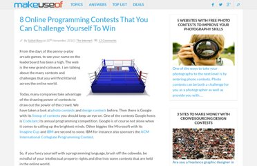 http://www.makeuseof.com/tag/8-onlineprogramming-contests-challenge-win/