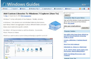 http://mintywhite.com/windows-7/7customization/add-custom-libraries-windows-7-explorer/