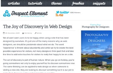 http://inspectelement.com/articles/the-joy-of-discovery-in-web-design/