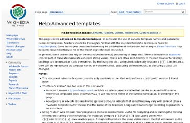 http://meta.wikimedia.org/wiki/Help:Advanced_templates