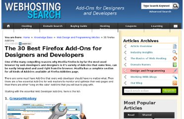 http://www.webhostingsearch.com/articles/30-best-firefox-add-ons-for-designers-and-developers.php