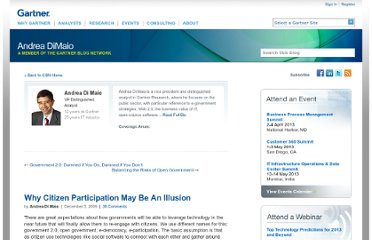 http://blogs.gartner.com/andrea_dimaio/2009/12/05/why-citizen-participation-may-be-an-illusion/