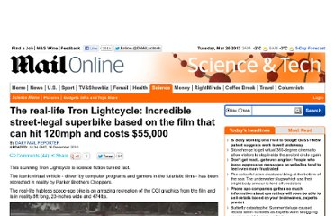 http://www.dailymail.co.uk/sciencetech/article-1339119/The-real-Tron-Lightcycle-hit-120mph-costs-55-000.html