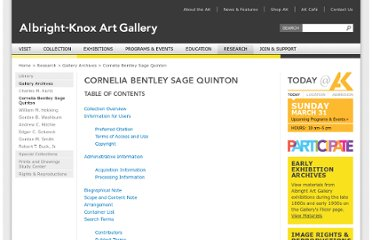 http://www.albrightknox.org/research/archives-collection/cornelia-bentley-sage-quinton/
