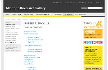 http://www.albrightknox.org/research/archives-collection/robert-t-buck-jr/