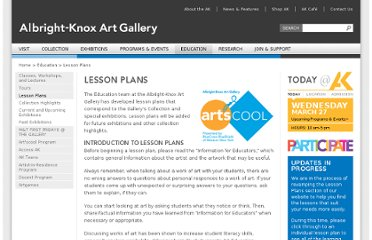 http://www.albrightknox.org/education/lesson-plans/