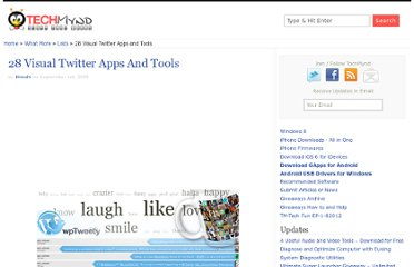 http://www.techmynd.com/28-visual-twitter-apps-and-tools/