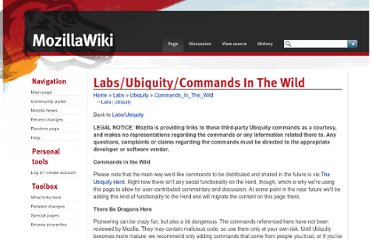 https://wiki.mozilla.org/Labs/Ubiquity/Commands_In_The_Wild