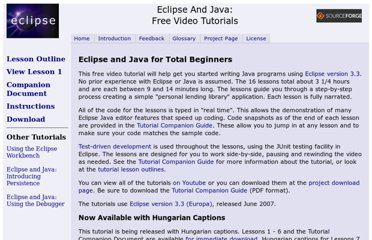 http://eclipsetutorial.sourceforge.net/totalbeginner.html
