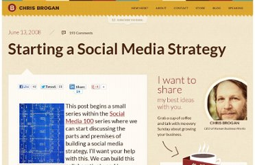 http://www.chrisbrogan.com/starting-a-social-media-strategy/