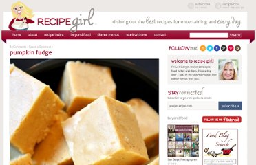 http://www.recipegirl.com/2008/08/28/pumpkin-fudge/