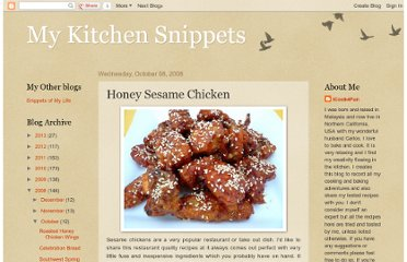 http://www.mykitchensnippets.com/2008/10/honey-sesame-chicken.html