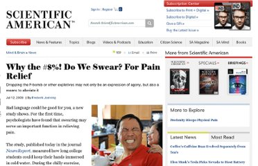 http://www.scientificamerican.com/article.cfm?id=why-do-we-swear