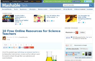 http://mashable.com/2010/12/16/science-teacher-resources/