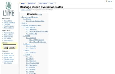 http://wiki.secondlife.com/wiki/Message_Queue_Evaluation_Notes