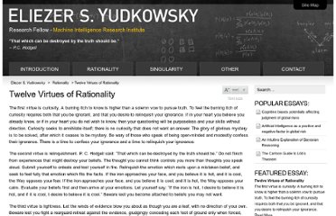 http://yudkowsky.net/rational/virtues