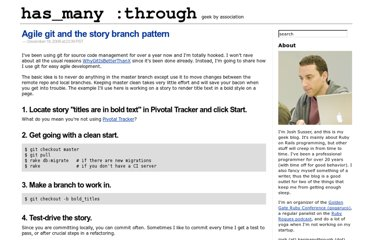 http://blog.hasmanythrough.com/2008/12/18/agile-git-and-the-story-branch-pattern
