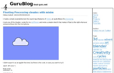 http://www.local-guru.net/blog/2010/01/04/floating-processing-cloudes-with-minim