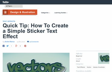 http://vector.tutsplus.com/tutorials/text-effects/quick-tip-how-to-create-a-simple-sticker-text-effect/
