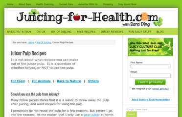 http://www.juicing-for-health.com/juicer-pulp-recipes.html