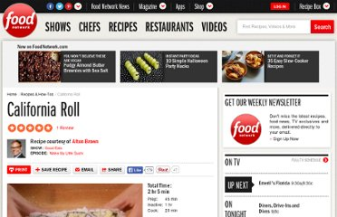 http://www.foodnetwork.com/recipes/alton-brown/california-roll-recipe/index.html