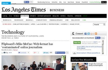 http://latimesblogs.latimes.com/technology/2010/12/flipboards-mike-mccue-online-journalism-is-being-contaminated-by-www.html