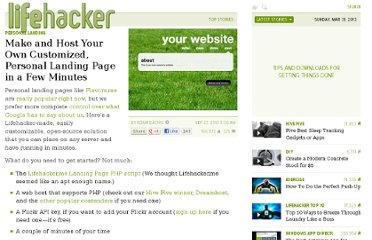http://lifehacker.com/5636983/how-to-make-and-host-your-own-custom-personal-landing-page