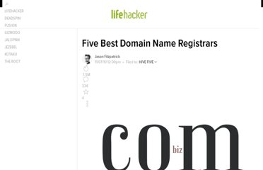 http://lifehacker.com/5683682/five-best-domain-name-registrars