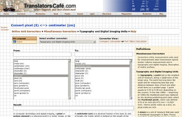 http://www.translatorscafe.com/cafe/units-converter/typography/calculator/pixel-(X)-to-centimeter-%5Bcm%5D/