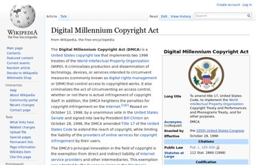 http://en.wikipedia.org/wiki/Digital_Millennium_Copyright_Act