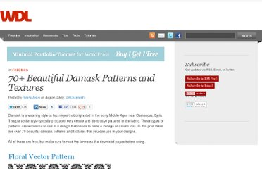 http://webdesignledger.com/freebies/70-beautiful-damask-patterns-and-textures