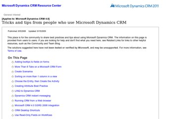 http://rc.crm.dynamics.com/rc/regcont/en_us/OP/articles/usertips.aspx