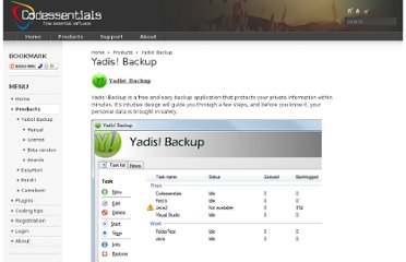 http://codessentials.com/products/yadisbackup.html