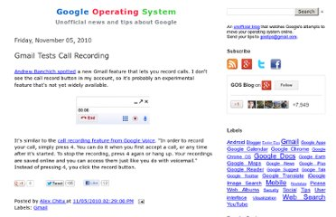 http://googlesystem.blogspot.com/2010/11/gmail-tests-call-recording.html