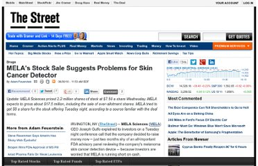 http://www.thestreet.com/story/10795719/1/melas-stock-sale-suggests-problems-for-skin-cancer-detector.html