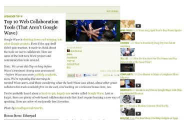 http://lifehacker.com/5373339/top-10-web-collaboration-tools-that-arent-google-wave
