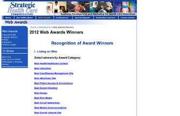 http://www.strategichealthcare.com/awards/winners.php