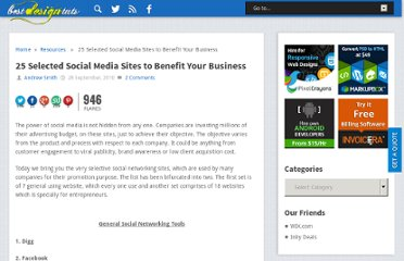 http://www.bestdesigntuts.com/25-selected-social-media-sites-to-benefit-your-business/