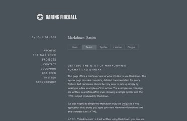 http://daringfireball.net/projects/markdown/basics