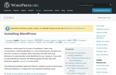 http://codex.wordpress.org/Installing_WordPress