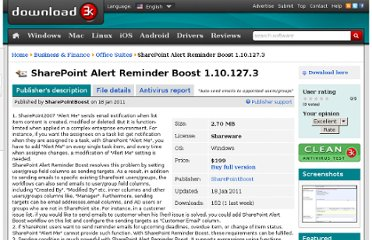 http://www.download3k.com/Business-Finance/Office-Suites/Download-SharePoint-Alert-Reminder-Boost.html