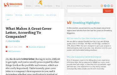 http://www.smashingmagazine.com/2010/03/25/what-makes-a-great-cover-letter-according-to-companies/