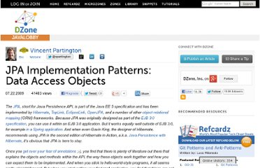 http://java.dzone.com/articles/jpa-implementation-patterns