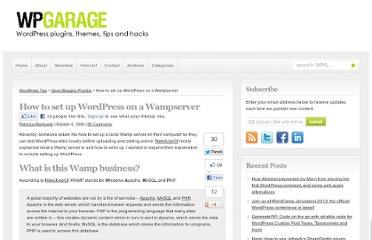 http://wpgarage.com/good-blogging-practice/how-to-set-up-wordpress-on-a-wampserver/