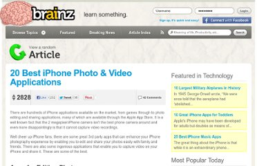 http://brainz.org/20-best-iphone-photo-video-applications/