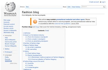 http://en.wikipedia.org/wiki/Fashion_blog